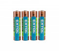 Baterie AAA mikrotužkové LR03 1,5V alkalické 4ks EXTOL