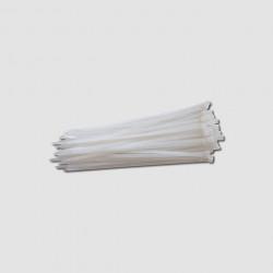 250x3,6mm bílé stahovací pásky 50ks XTline