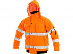 Reflexní bunda oranžová LEEDS zimní