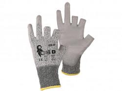 CITA 3F rukavice protipořezové tříprsté, šedé 1 pár - PRODEJ PO 12 párech
