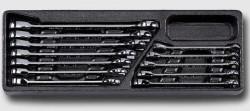 HONITON HA025-21 Sada ráčnových klíčů 8-19mm na platu