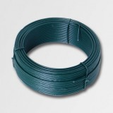 Napínací drát 3,4mmx78m zelený PVC 42257