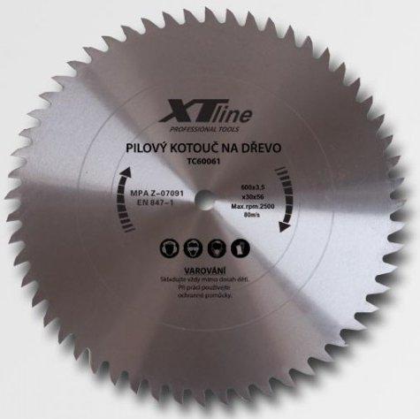 XTline TC60061 Pilový kotouč 600x3,5x30 60 zubů