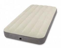 DELUXE SINGLE Nafukovací postel bílá 99x191x25cm INTEX