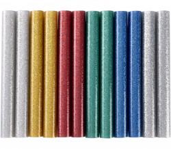 11x100 mm 12ks Lepící tavné tyèinky MIX barev se tøpytem