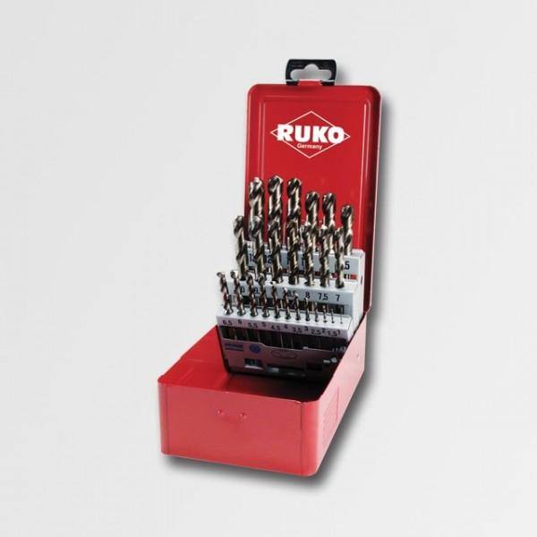 Sada vrtáků do kovu HSS-G CO 1-13mm 25ks RUKO RU215215