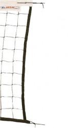 Síť volejbalová s lankem černá 9,5x1m