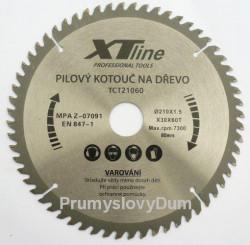 210x2,1x30 (16, 20, 25,4)mm Pilový kotouč XTline 60zubů SK plátky