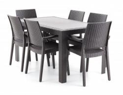 URANO SET 6 kvalitní italský ratanový nábytek 6+1