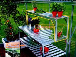 Nástavec pro regál do skleníku VITAVIA 120x26 cm stříbrný