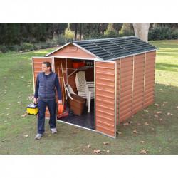 Skylight 6x10 hnědý zahradní domek 305x185cm