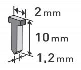 Høebíky 10mm, 1000ks, 2,0x0,52x1,2mm EXTOL