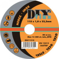 Øezný kotouè 115x1,0mm na ocel, nerez DY 11510 sada 10ks