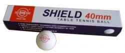 RICHMORAL SHIELD Míčky stolní tenis bezešvé bílé 6ks