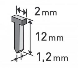 Høebíky 12mm, 1000ks, 2,0x0,52x1,2mm EXTOL