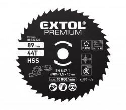 89x1,0x10 mm 44zubù HSS Pilový kotouè na kov EXTOL