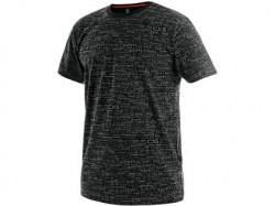 Tričko CXS DARREN krátký rukáv potisk logo černé