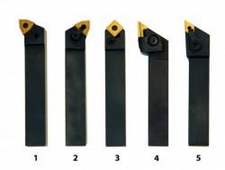 Soustružnické nože HM 20 mm s výměn. SK destičkami 5 ks