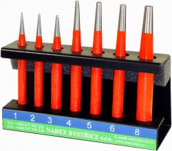 Sada průbojníků 1-8mm NAREX 854500 7dílná