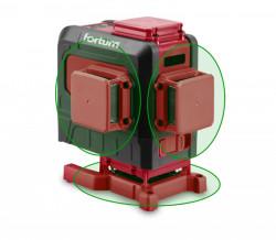 FORTUM laser zelený 3D liniový, køížový samonivelaèní 4780216