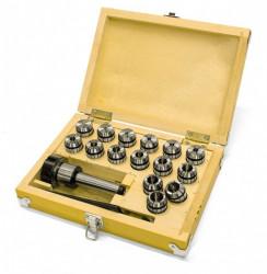 Kleštinový upínač MK2/M10/ER25 + kleštiny 1,5-16mm OPTIMUM