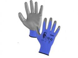 CERRO povrstvené rukavice modro-šedé 1 pár - PRODEJ PO 12 párech