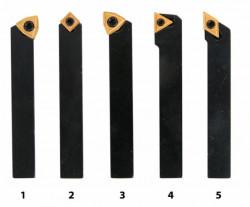 Soustružnické nože HM 10 mm s výměnnými destičkami 5ks