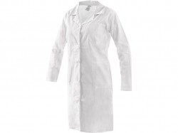 Dámský pracovní plášť EVA bílý, dlouhý rukáv 1203