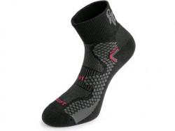Ponožky CXS SOFT, èerno-èervené