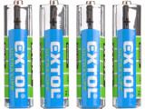 Baterie AAA mikrotužkové R03 1,5V zink-chloridové 4ks EXTOL