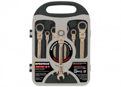 PROTECO sada 8-12mm ráčnových klíčů s kloubem 7-dílná