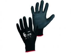 BRITA BLACK rukavice máčené v PU 1 pár - PRODEJ PO 12 párech