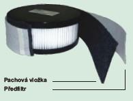 Pachový filtr pro Clean-Air Basic 2000, 10ks