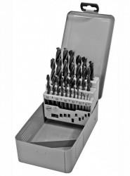 Sada vrtáků do kovu 1-13mm DIN 338 černých 25ks PROTECO
