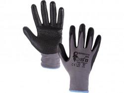 NAPA povrstvené rukavice šedo-černé 1 pár - PRODEJ PO 12 párech