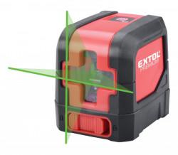 EXTOL PREMIUM laser zelený liniový, křížový samonivelační