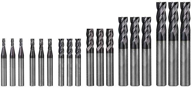 Frézy 3-12mm, stopkové na kov TiAlN sada 18 ks OPTIMUM
