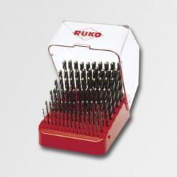 Sada vrtáků do kovu 1-10mm HSS-R RUKO 91ks