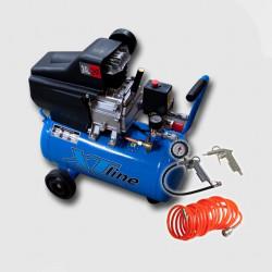 XTline XT1002 BM-2024 kompresor 8Bar, 24L + 3-díl. sada vzd. nářadí - VÝPRODEJ 1ks