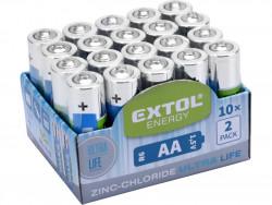 Baterie AA tužkové HR6 1,5V zink-chloridové 20ks EXTOL