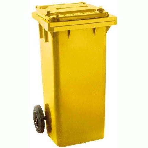 Popelnice plastová 120l žlutá