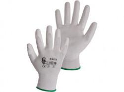 BRITA Povrstvené rukavice bílé 1 pár - PRODEJ PO 12 párech