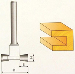 Fréza drážkovací 10x9,4mm stopka 8mm na døevo