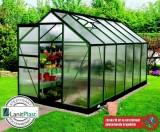 VENUS 7500 skleník 383x193cm zelený 7,4m2 + základna ZDARMA