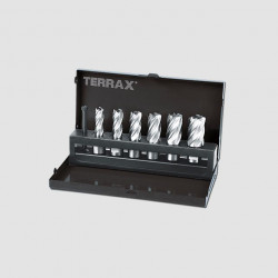 Sada jádrovách vrtáků 12 - 22mm Terrax RUA108820