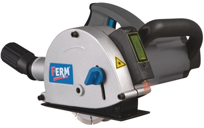 FERM FWS-125/4K WSM1009 drážkovací fréza do zdiva + přepravní taška