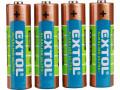 Baterie AA tužkové LR6 1,5V alkalické 4ks EXTOL