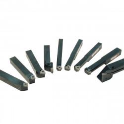 Soustružnické nože 10 mm s destičkami 9ks HOLZMANN 9TLG10