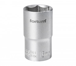 "16mm hlavice 1/2"" 6hran FORTUM"