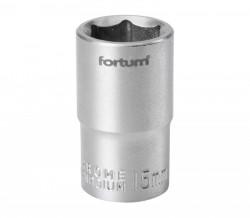 "15mm hlavice 1/2"" 6hran FORTUM"